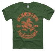 Miami Hurricanes Youth Heathered Green Rockers Ring Spun T-Shirt