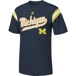 Michigan Wolverines Navy adidas Youth Heathered Vintage Jersey T-Shirt