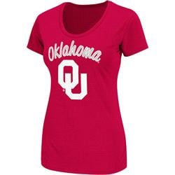 Oklahoma Sooners Cardinal Women's Diva Scoop Neck T-Shirt