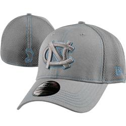 North Carolina Tar Heels New Era 39THIRTY Gray Neo Stretch Fit Hat