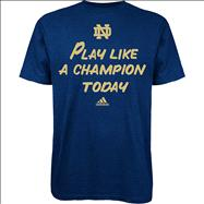 Notre Dame Fighting Irish Kids 4-7 Navy adidas Play Like A Champion T-Shirt