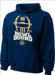 Notre Dame Fighting Irish Youth adidas Navy 2013 BCS National Championship Game Bound Football Helmet Hooded Sweatshirt