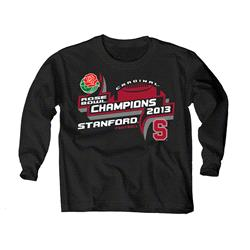 Stanford Cardinal Youth Black 2013 Rose Bowl Champions Long Sleeve T-Shirt