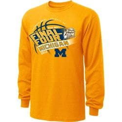 Michigan Wolverines 2013 NCAA Basketball Final Four Slope Long Sleeve T-Shirt