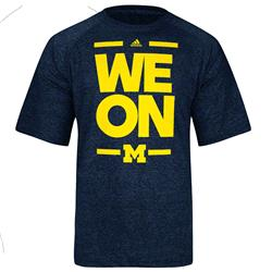 Michigan Wolverines adidas Fan Section Performance T-Shirt -Heathered Navy