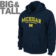 Michigan Wolverines Big & Tall Legacy Hooded Sweatshirt
