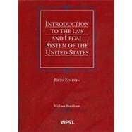 Introduction to the Law and Legal System of the United States,9780314266101