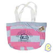 NLU Hot Pink Stripe Beachcomber Bag