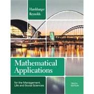 Mathematical Applications for the Management, Life, and Social Sciences,9781133106234