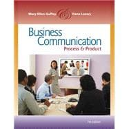 Business Communication Process and Product (with meguffey.co..., 9780538466257  