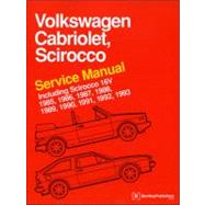 Volkswagen Cabriolet, Scirocco Service Manual: 1985, 1986, 1..., 9780837616360  