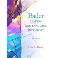 Bader Reading and Language Inventory and Readers Passages Package