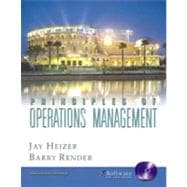 Principles of Operations Management and Student CD-ROM