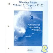 Working Papers (print) Vol 2 to accompany FAP Volume 2 (CH 12-25)