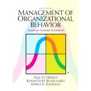 Management of Organizational Behavior,9780132556408