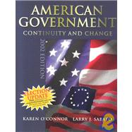 American Government : Continuity and Change, 2002 Election Update (paperback), with LP.com Version 2.0,9780321156433