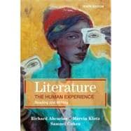 Literature: the Human Experience : Reading and Writing,9780312556440
