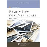 Family Law for Paralegals,9781454816485
