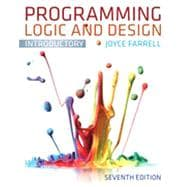 Programming Logic and Design, Introductory, 9781133526513