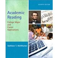 Academic Reading : College Major and Career Applications