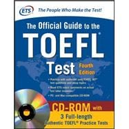 Official Guide to the TOEFL Test With CD-ROM, 4th Edition,9780071766586