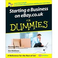 Starting a Business on Ebay.Co.UK for Dummies,9780470026663