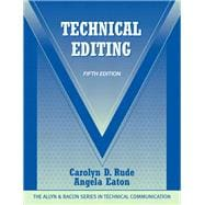 Technical Editing, 9780205786718  