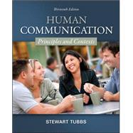 Human Communication : Principles and Contexts,9780078036781