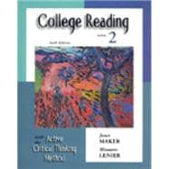 College Reading with the Active Critical Thinking Method Book 2
