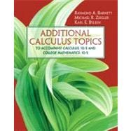 Additional Calculus Topics,9780131856820