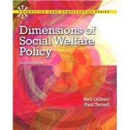 Dimensions of Social Welfare Policy,9780205096893