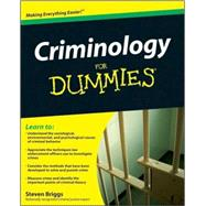 Criminology For Dummies, 9780470396964  