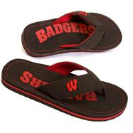 Wisconsin Badgers Canvas Flip Flops