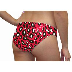 Nebraska Cornhuskers Women's Lady Cat Print Swim Suit Bottom