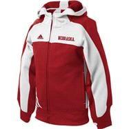 Nebraska Cornhuskers adidas Girls Red Charger Full Zip Hooded Sweatshirt