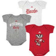 Wisconsin Badgers adidas Infant 3 Pack Creeper Set