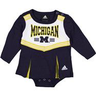 Michigan Wolverines adidas Navy Infant Cheerleader Creeper Dress