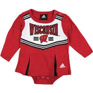 Wisconsin Badgers adidas Red Infant Cheerleader Creeper Dress