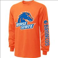 Boise State Broncos  Orange Youth Double Hit II Long Sleeve T-Shirt
