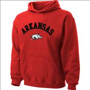 Arkansas Razorbacks Kids 4-7 Cardinal Tackle Twill Hooded Sweatshirt