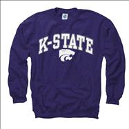 Kansas State Wildcats Youth Purple Perennial II Crewneck Sweatshirt