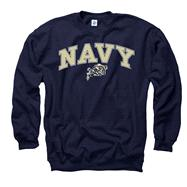 Navy Midshipmen Youth Navy Perennial II Crewneck Sweatshirt