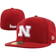 Nebraska Cornhuskers New Era 59FIFTY Basic Fitted Hat