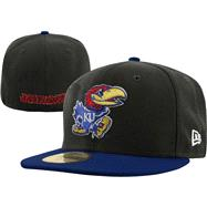 Kansas Jayhawks New Era 59FIFTY 2 Tone Graphite Fitted Hat