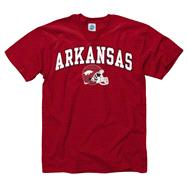 Arkansas Razorbacks Youth Cardinal Football Helmet T-Shirt