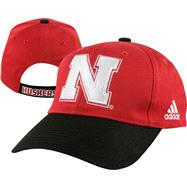 Nebraska Cornhuskers Kids (4-7) adidas Red Colorblock Flex Fit Hat