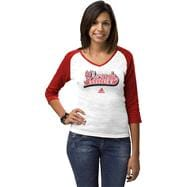 Wisconsin Badgers Women's adidas 'Team Sweep' 3/4 Sleeve Raglan Top