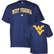 West Virginia Mountaineers adidas Navy Relentless T-Shirt