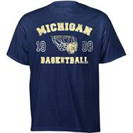 Michigan Wolverines Legacy Basketball T-Shirt