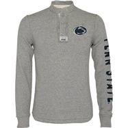 Penn State Nittany Lions Heather Grey Rafter Waffle Knit Henley Long Sleeve Shirt